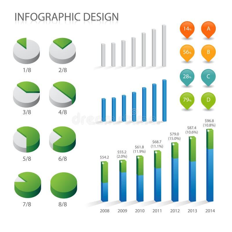 Info grafiki element ilustracja wektor
