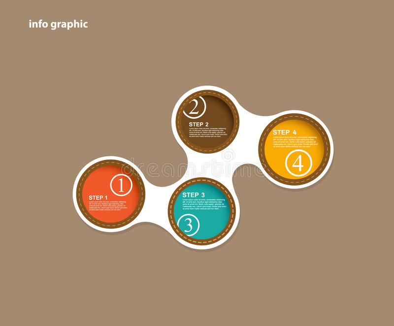 Info graphic circles with place for your text. stock illustration
