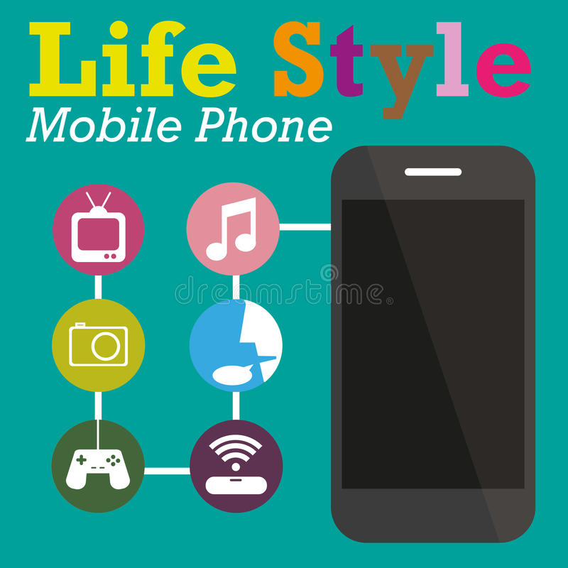 Info Graphic Function Technology Of Mobile Phone Stock Vector