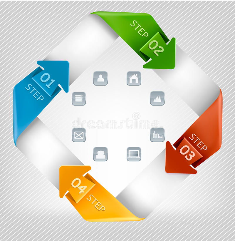 Download Info Graphics Banner With Icons. Modern Design Tem Stock Vector - Illustration of layout, business: 34286996