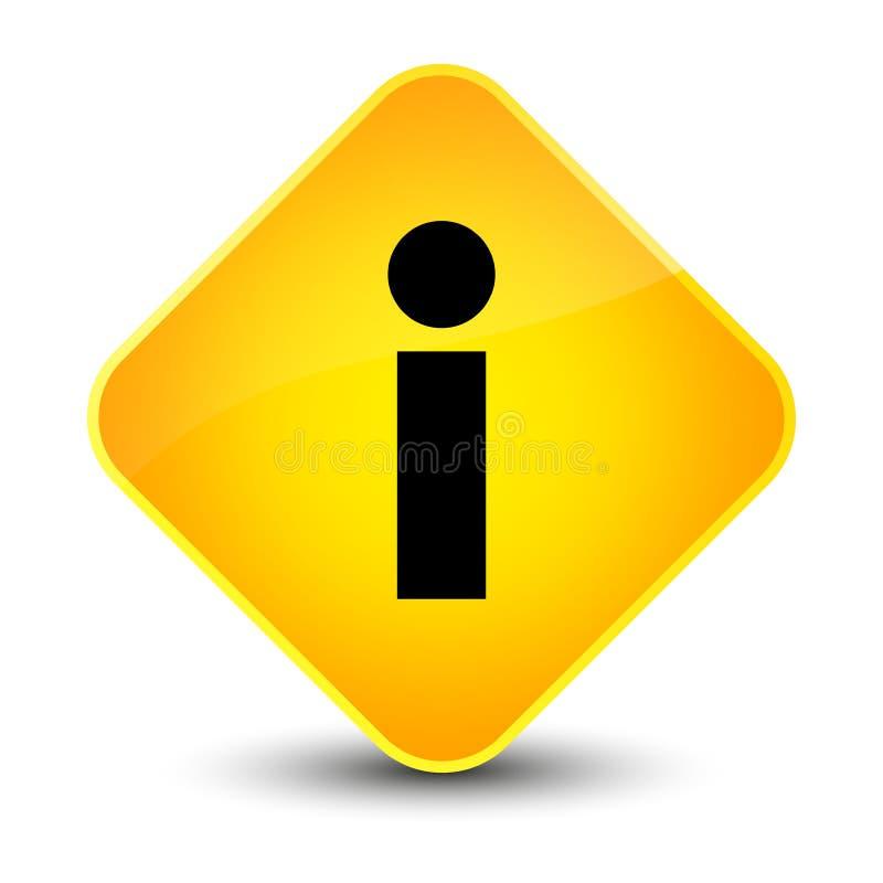 Info icon elegant yellow diamond button royalty free illustration
