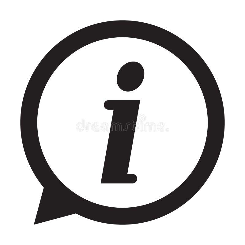 Info icon, Information sign icon. Info speech bubble symbol. i letter vector. vector illustration