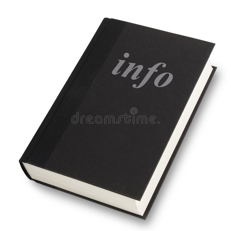 Info książka zdjęcia stock
