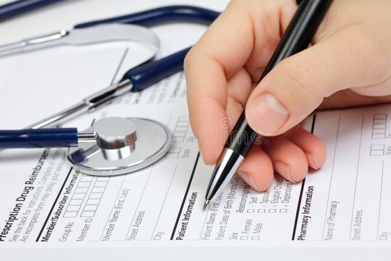 info pacjenta rx zdjęcia stock