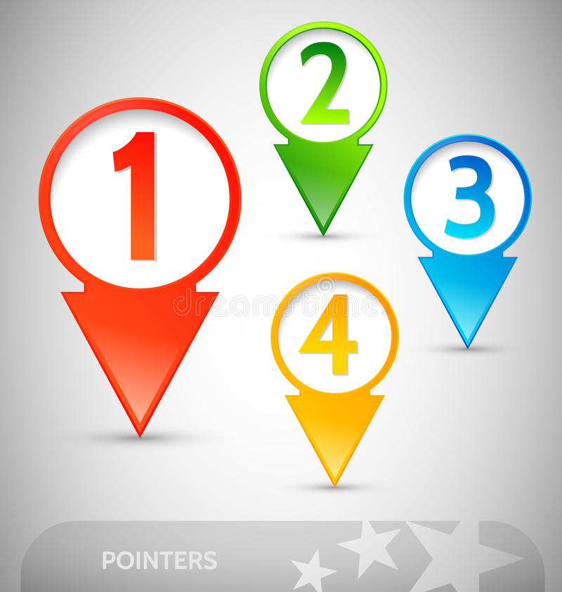 Info Pointers With Numbers Stock Photography