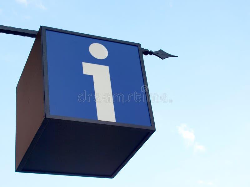 Info-Punktzeichen stockfoto