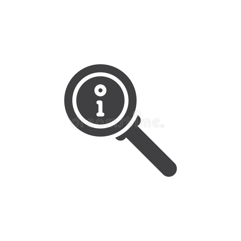 Info search vector icon royalty free illustration