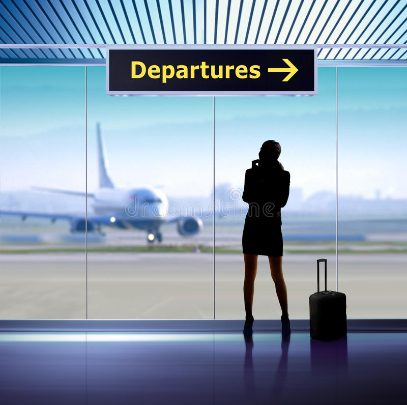 Info signage in airport stock images