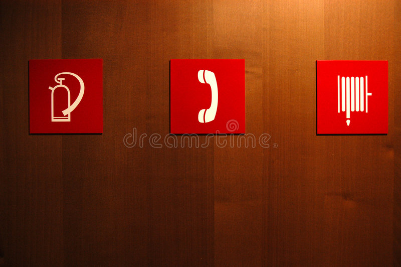 Info signs - Brussels. Three icons giving information about directions royalty free stock images