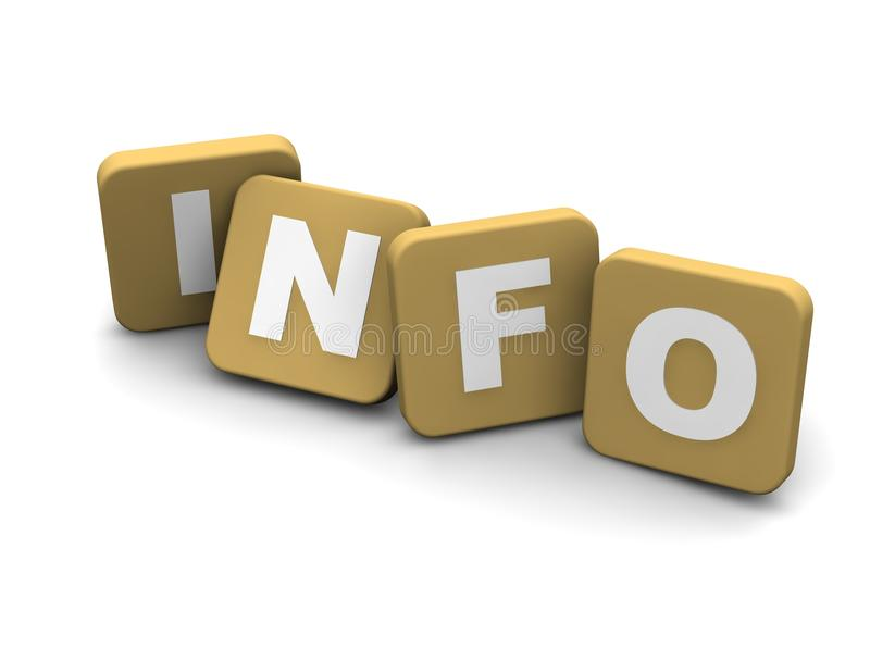 Info- tekst royalty-vrije illustratie