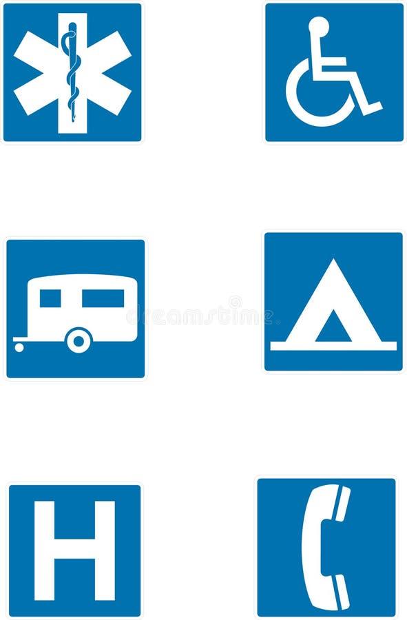 info undertecknar trafik vektor illustrationer