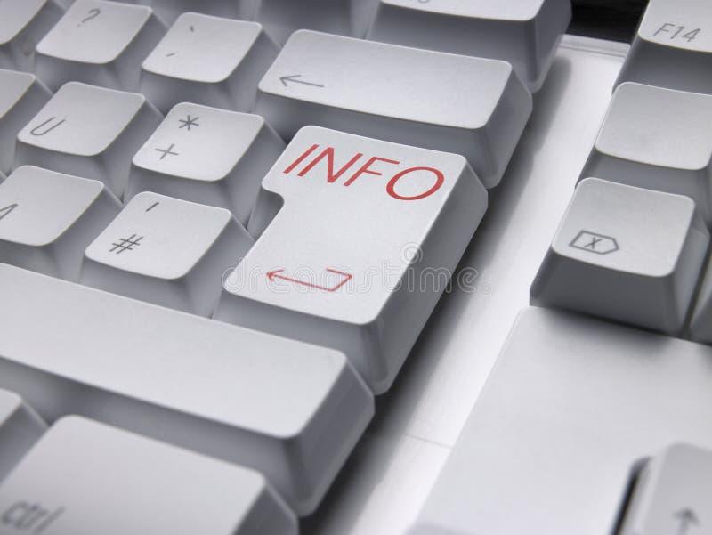 Info van het toetsenbord royalty-vrije stock fotografie