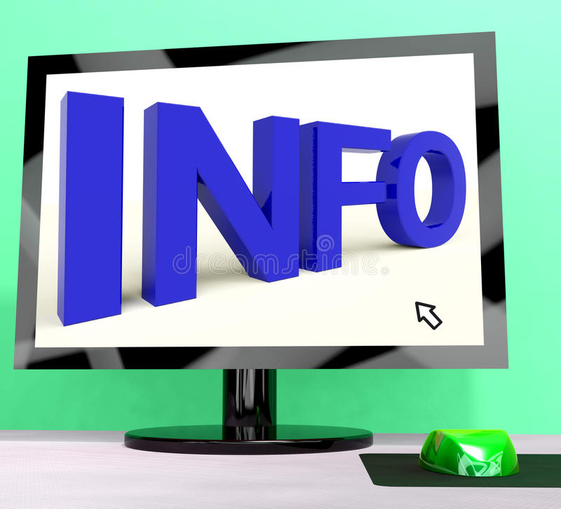 Download Info Word On Computer stock illustration. Image of info - 26475674