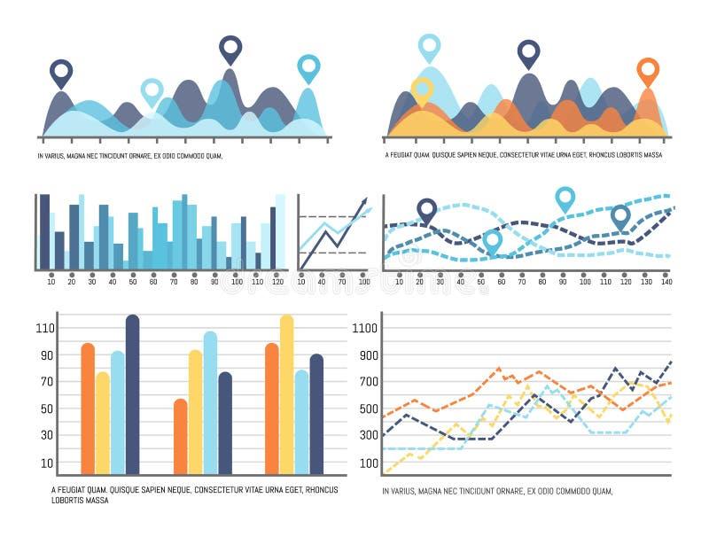 Infochart z dane, Flowchart projekta informacja ilustracja wektor
