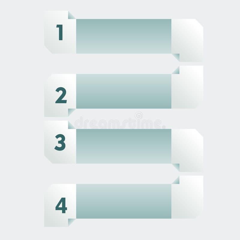 Infogaphics 4 stappen stock illustratie