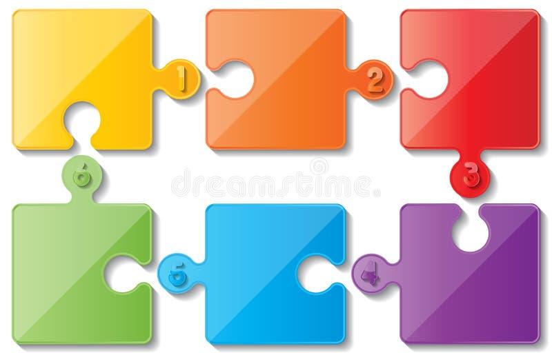 Infoghaphics del rompecabezas ilustración del vector