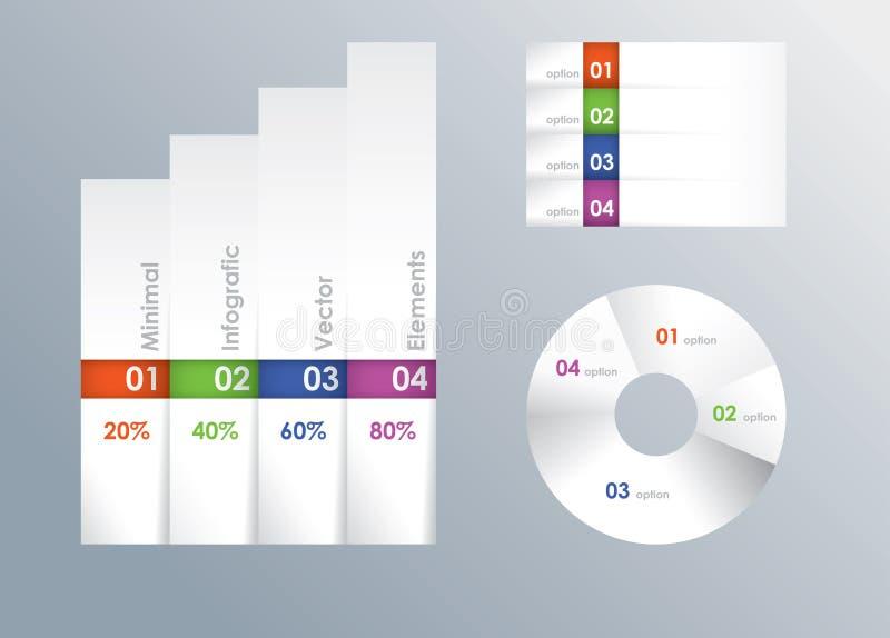 Infografic mall för modern vektor royaltyfri illustrationer