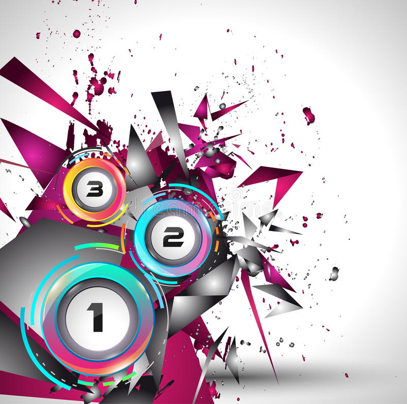 Infograph-Schablone mit Multiplen Choices und vielen infographic Gestaltungselementen lizenzfreie abbildung