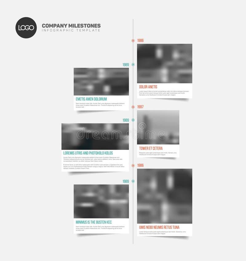 Infographic与大照片的时间安排模板 皇族释放例证
