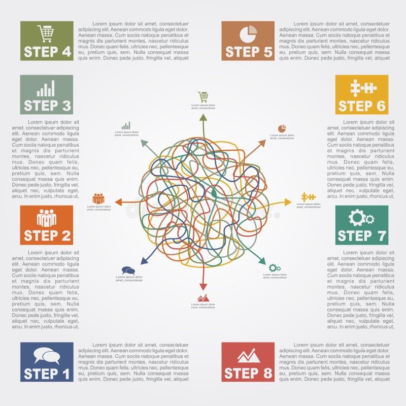 Infographic与文本和象的报告模板 皇族释放例证