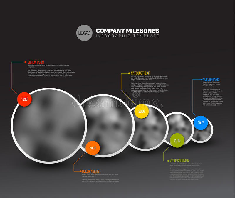 Infographic与照片的时间安排模板 向量例证