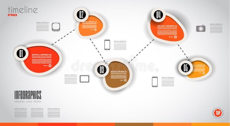 Infographic与现代平的样式的设计模板 皇族释放例证