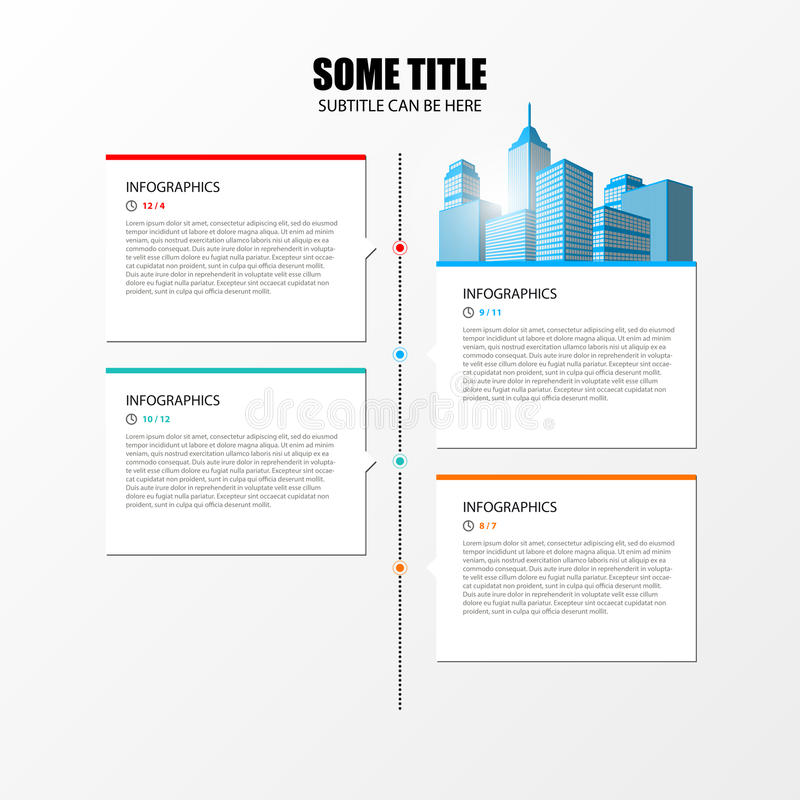 Infographic与纸标记的设计模板 向量 皇族释放例证