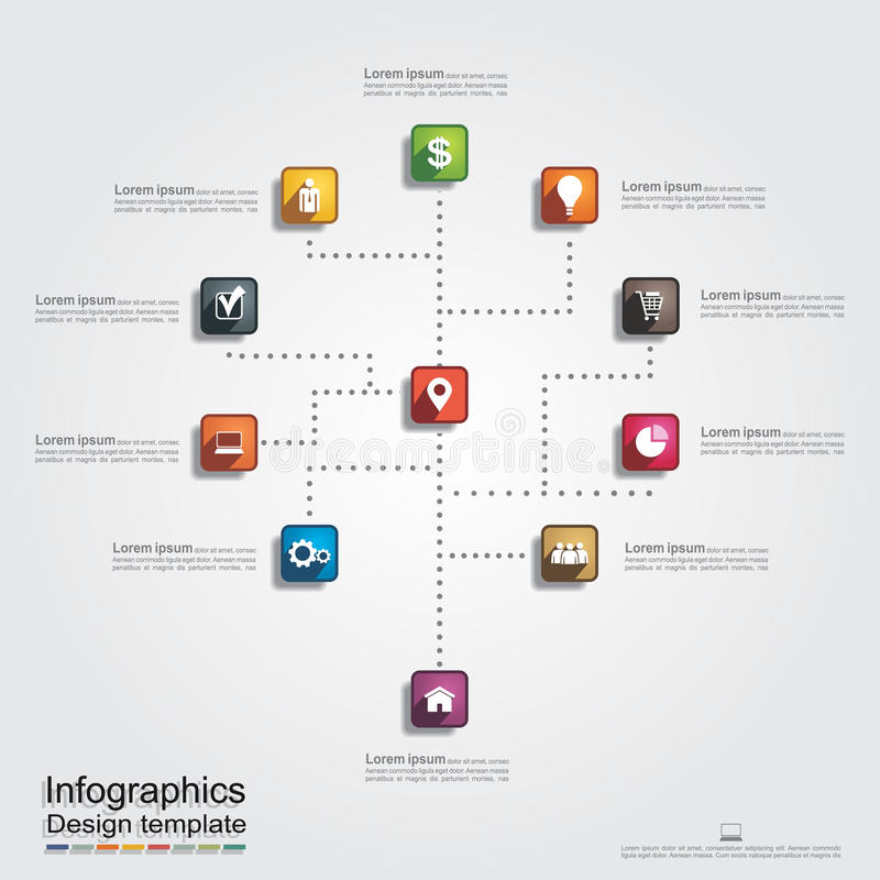 Infographic与线和象的报告模板 向量例证