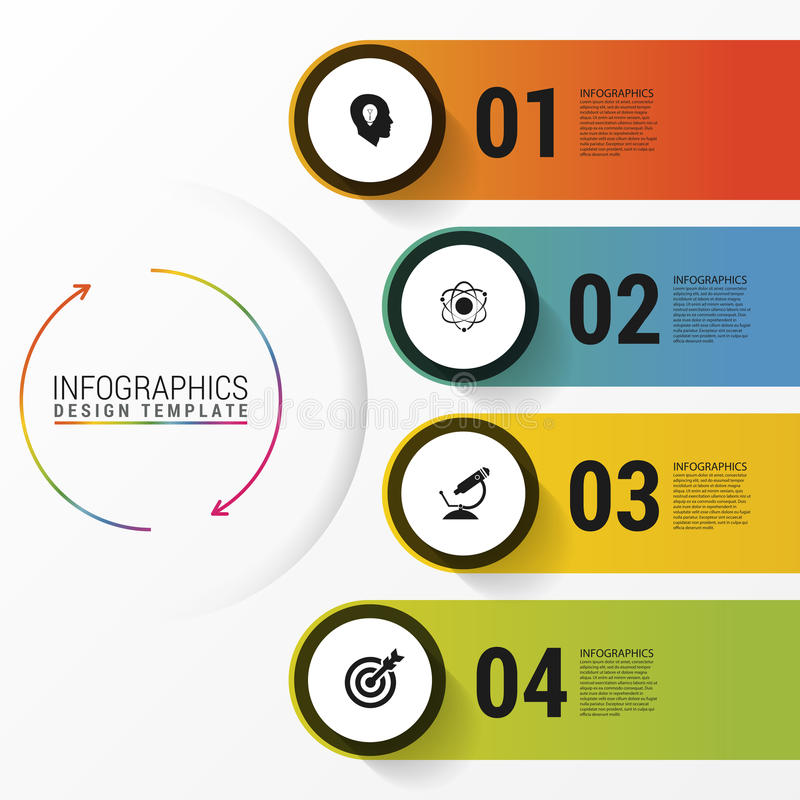 Infographic与象的报告模板 到达天空的企业概念金黄回归键所有权 向量例证