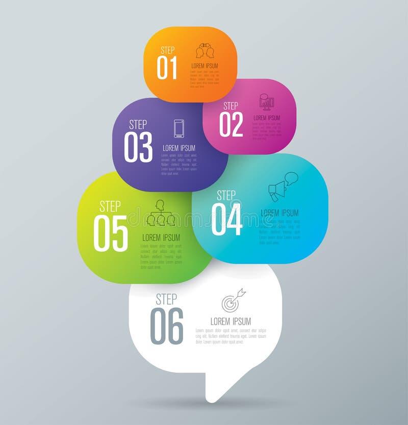 Infographic与6个选择的设计和企业象 向量例证