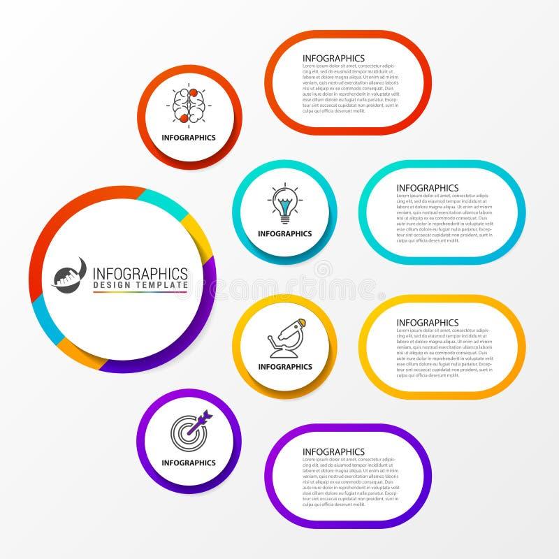 Infographic与4步的报告模板 向量 皇族释放例证