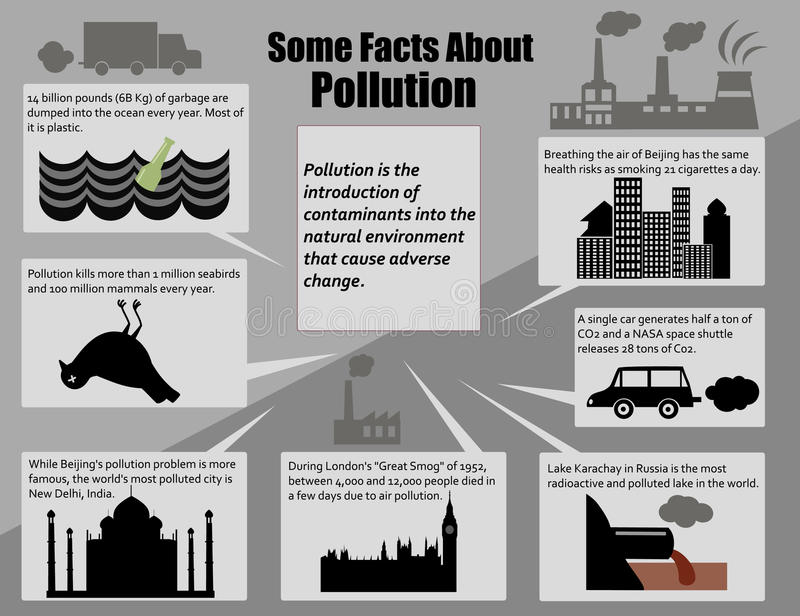 Infographic事实环境污染 免版税库存照片
