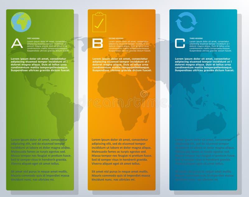 infographic五颜六色的世界地图 库存照片