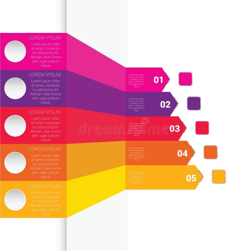 Infographic五颜六色的艺术元素例证 库存例证
