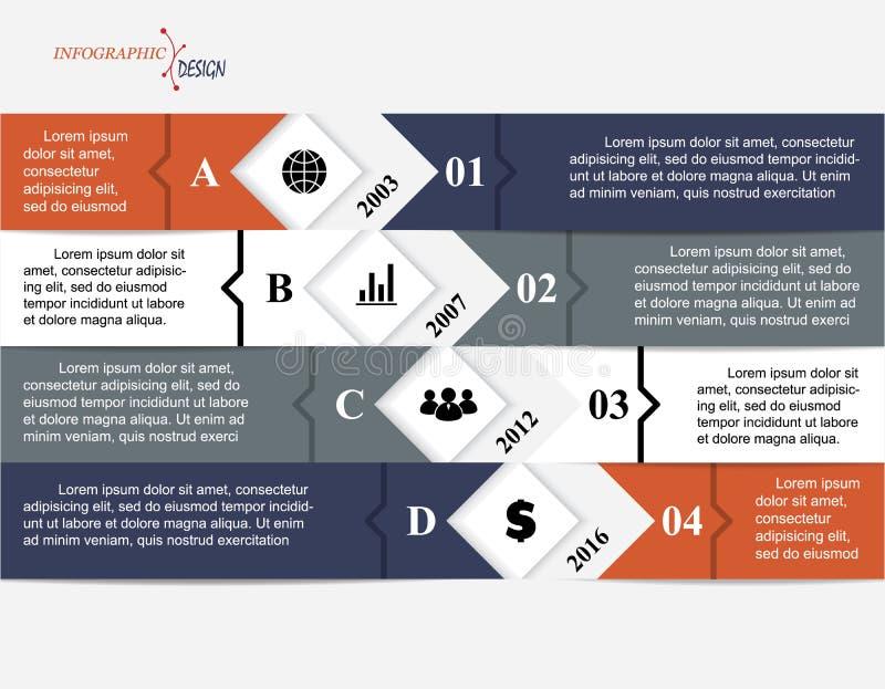 Infographic企业模板 向量例证