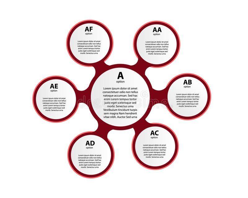 infographic传染媒介的圈子 图、图表、介绍和图的模板 库存例证