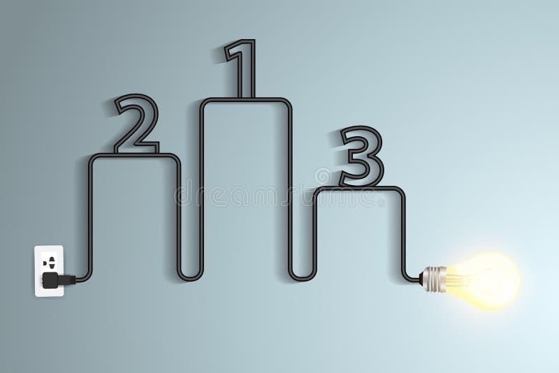 infographic传染媒介创造性的电灯泡想法的摘要 库存例证