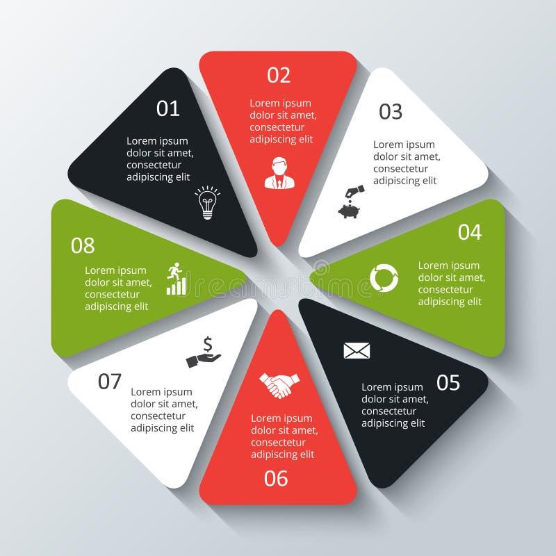 infographic传染媒介的八角形物 向量例证