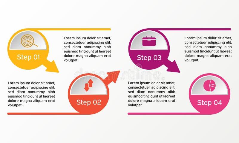 infographic传染媒介的圈子 企业图、介绍和图 背景 皇族释放例证