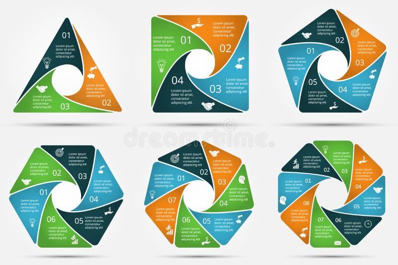 infographic传染媒介的圈子 库存例证