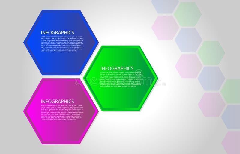 infographic传染媒介的多角形 向量例证