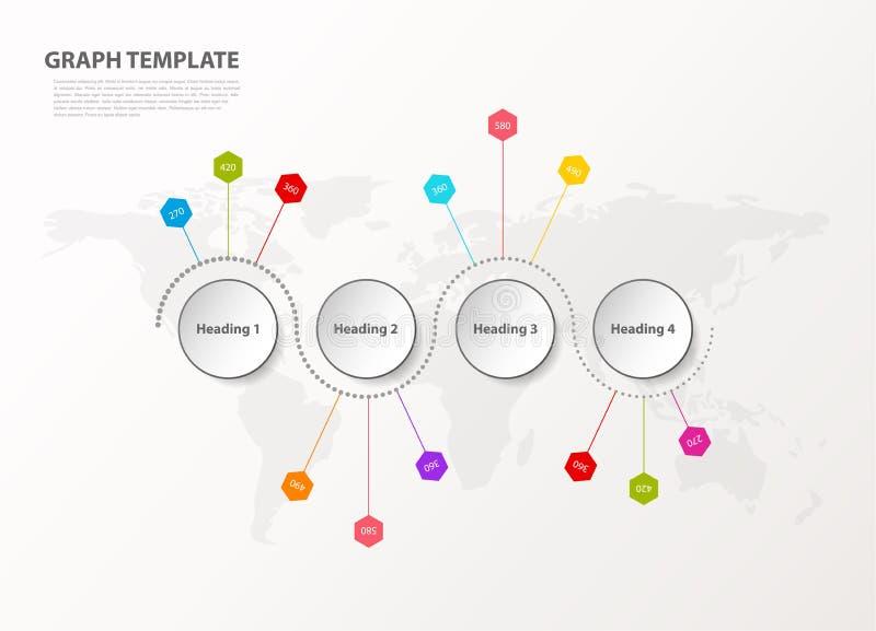Infographic例证传染媒介背景五颜六色的被溺爱的时间安排和地方您的评论的 皇族释放例证