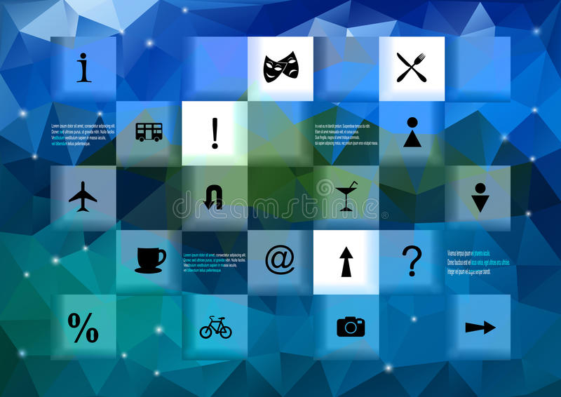Infographic元素有三角背景 向量例证