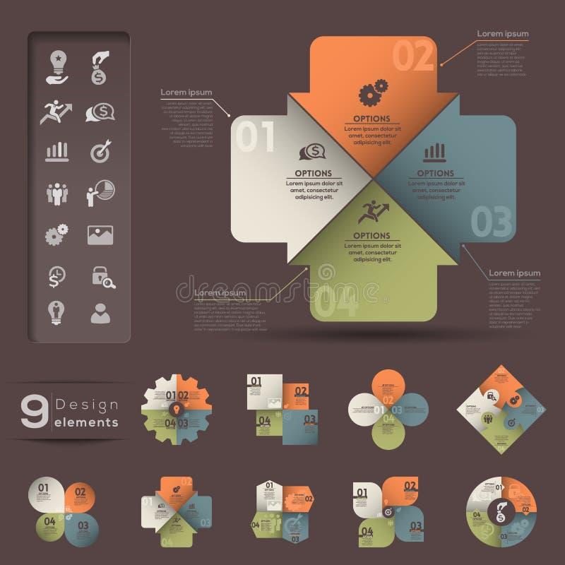 Infographic元素模板 皇族释放例证