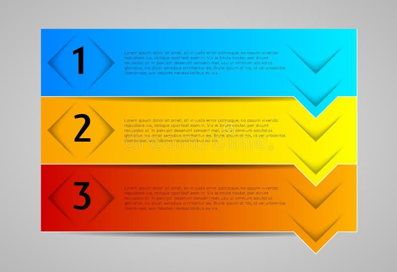 Infographic元素,横幅 库存例证
