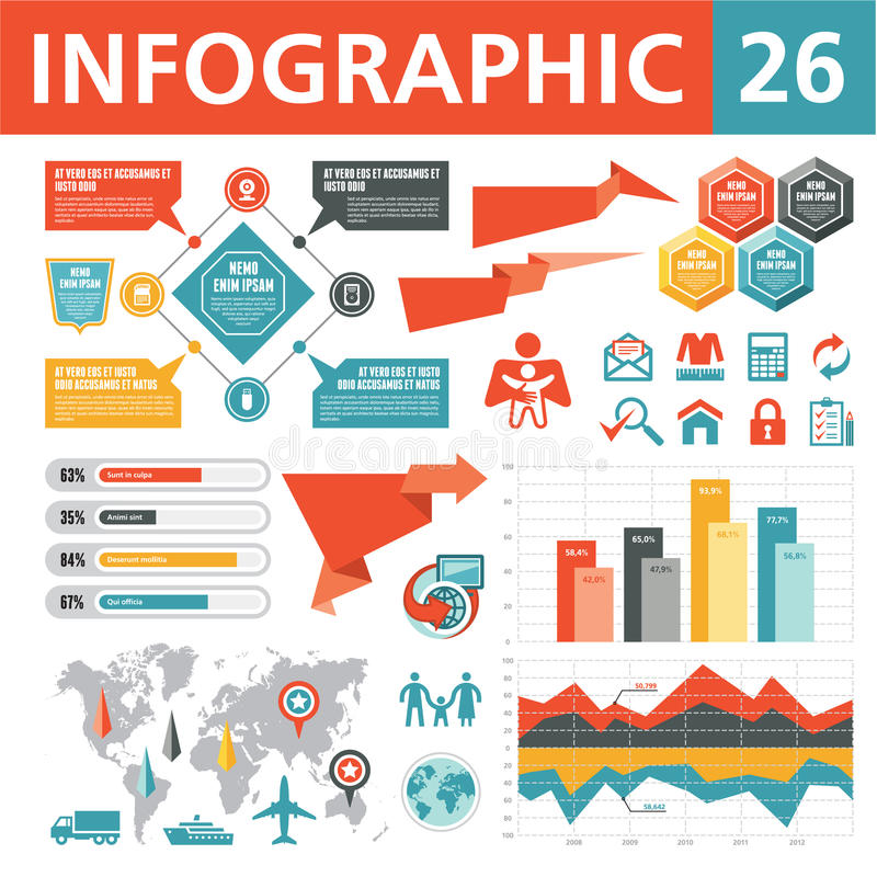 Infographic元素26 向量例证