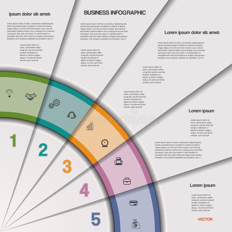 Infographic商业运作或工作流项目的 向量例证