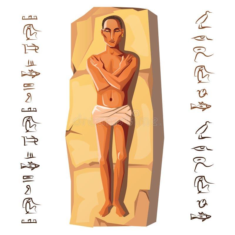 infographic埃及人尸体动画片的传染媒介 皇族释放例证