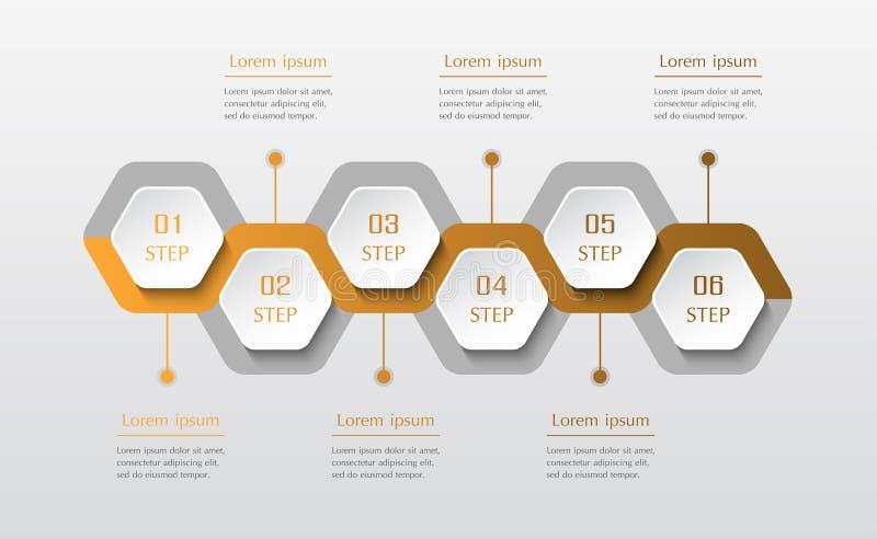 Infographic您的事务的设计元素 皇族释放例证