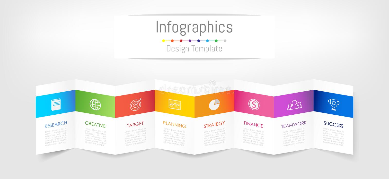 Infographic您的企业数据的设计元素与8个选择 皇族释放例证